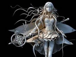 Athena warrior goddess 3d model