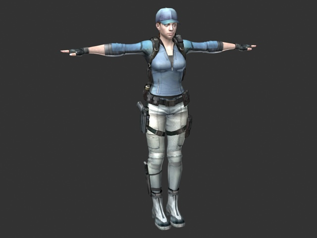 Policewoman rigged 3d model 3ds max,Maya files free ...