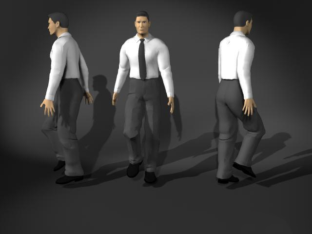 Man In Walking Pose 3d Model 3d Studio 3ds Max Cinema 4d