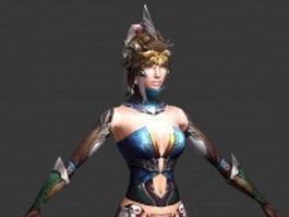 Female warrior 3d model