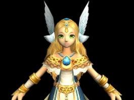 Cartoon girl in FusionFall 3d model