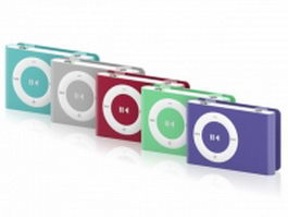 iPod Shuffle series 3d model