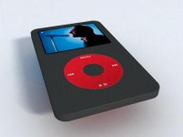 Black iPod Nano 3d model