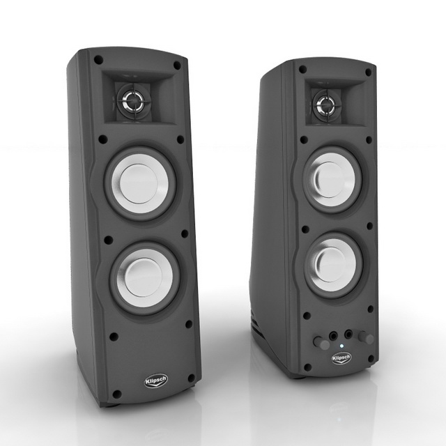 72addb206ea 3D model of ProMedia Ultra computer speaker system. Available 3D file  formats  .max (3ds max) V-ray render. Texture type  jpg