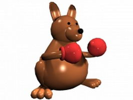 Boxing rabbit 3d model