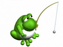 Fishing frog 3d model