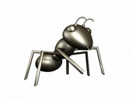Cartoon black ant 3d model