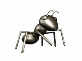Cartoon black ant 3d model