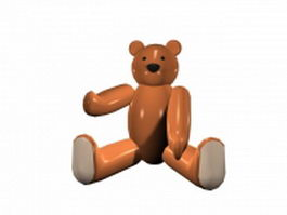 Cute bear sitting 3d model