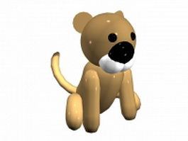 Cartoon lion sitting 3d model