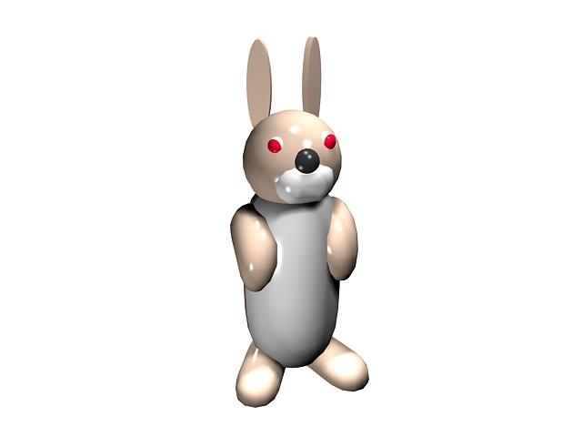Rabbit Cartoon 3d Model 3ds Max Files Free Download