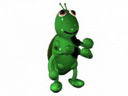 Cartoon grasshopper 3d model