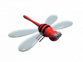 Cute dragonfly 3d model