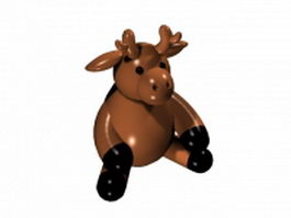 Cartoon deer 3d model