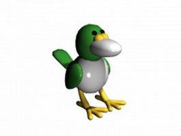Funny crow 3d model