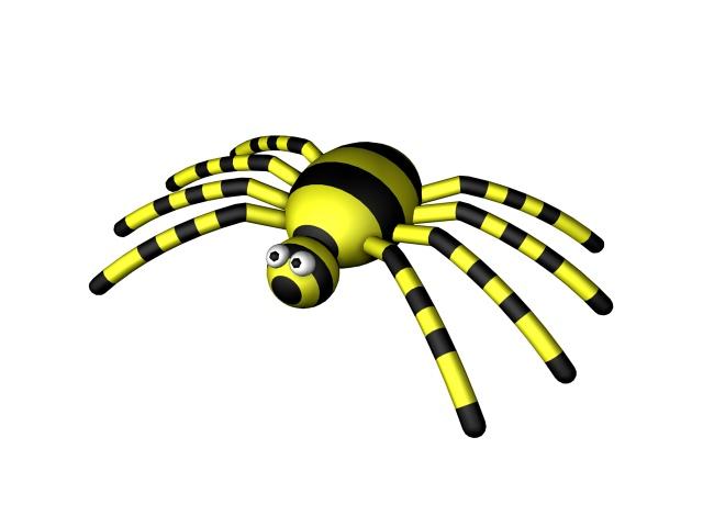 Cartoon spider 3d rendering