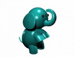 Cute baby elephant 3d model