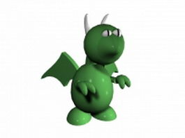 European dragon cartoon 3d model