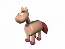 Wooden donkey 3d model