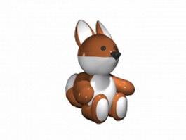 Cute cartoon squirrel 3d model