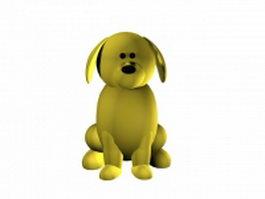 Yellow dog cartoon 3d model