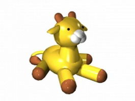 Cute cartoon cattle 3d model