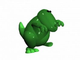 Cartoon dinosaur T Rex 3d model