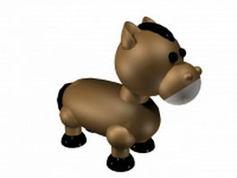 Cartoon baby horse 3d model
