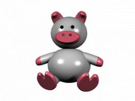 Funny cartoon pig 3d model
