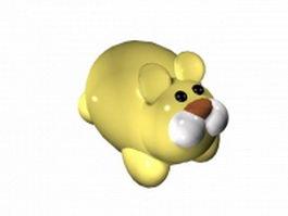 Cartoon yellow rabbit 3d model