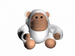 Cartoon gorilla 3d model