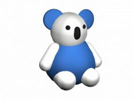 Blue and white bear 3d model