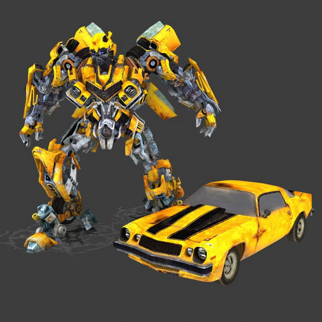 Rigged Animated Bumblebee 3d Model 3ds Max Files Free