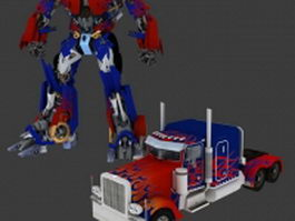 Animated Optimus Prime Rigged 3d model