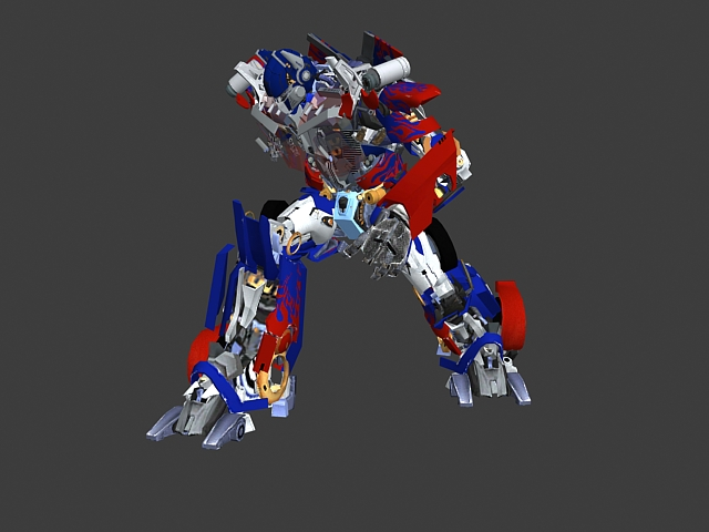 Animated Optimus Prime Rigged 3d Model 3ds Max Files Free