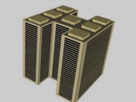 Architectural complex 3d model