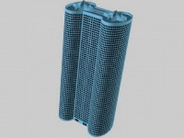Cylinder building architecture 3d model