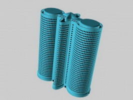 Double cylinder architecture 3d model