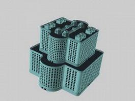 Postmodern architecture 3d model