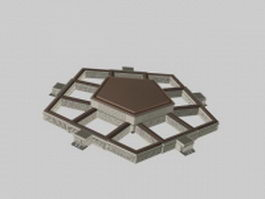 Pentagon office building 3d model