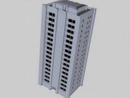 High-rise residential apartment 3d model