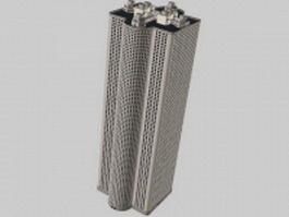 High-rise tower block 3d model