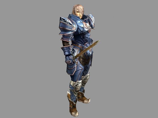 Human warrior in armor 3d model 3ds max files free ...
