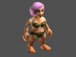 Female dwarf 3d model