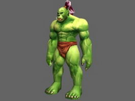 Orc male character 3d model