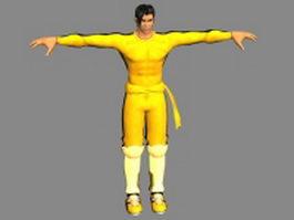 Anime martial artist male 3d model
