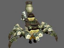 Giant mechanical spider 3d model