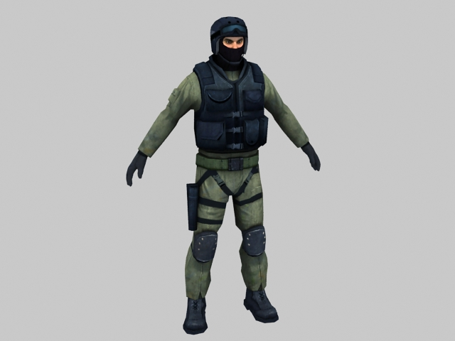 Swat Police 3d Model 3ds Max Files Free Download