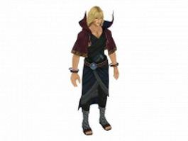 Fantasy young man 3d model