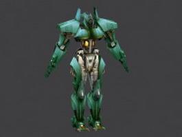 Green robot 3d model